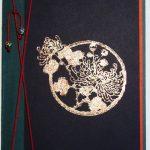 スタンプ台グルーパッドとスタンプ・ハンコ、箔を使った手作りカード