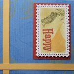 【マスキング応用】手作り切手風スタンプのカード