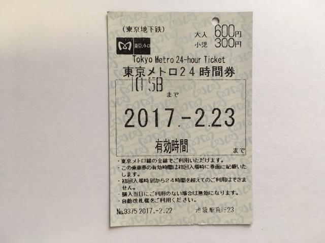 東京メトロ1日乗車券