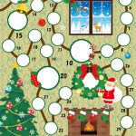 アドベントカレンダーにも使えそう!スタンプラリー台紙無料枠テンプレート12月用